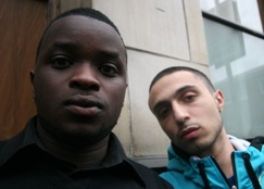 Femi Oyeniran, who plays Moony, and Adam Deacon, who plays Jay. Both were non-actors before Kidulthood came along