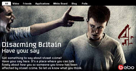 Our Bebo profile took the gun and knife crime debate to the realm of social networking